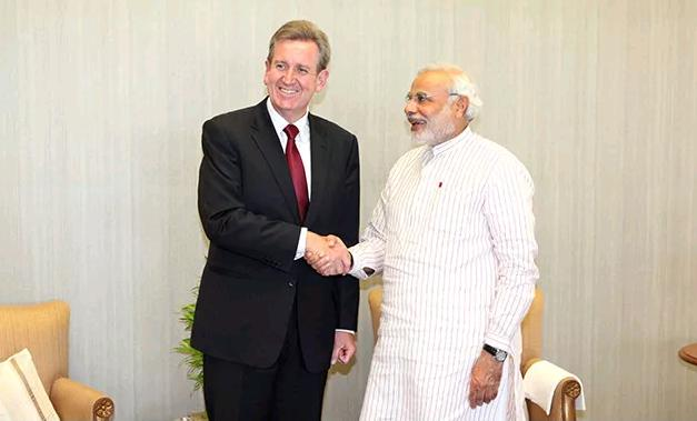 barry ofarrel meets modi 1